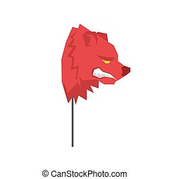 Red Bear trader mask. guise Player on stock exchange