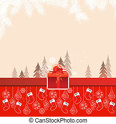 Red Beautiful Christmas card