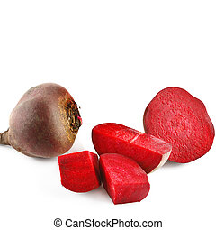 Red beet isolated on white background.