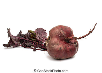 red beet with leaves