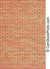 Red beige brick wall texture, vertical pattern background, large detailed textured brick-wall copy space closeup natural grungy bricks wallpaper