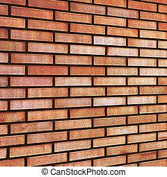 Red beige fine brick wall texture background