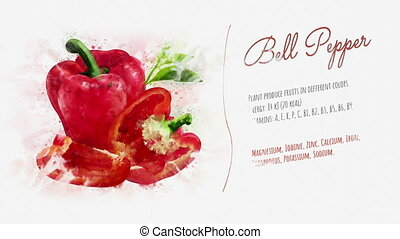 Red bell pepper and its ingredients