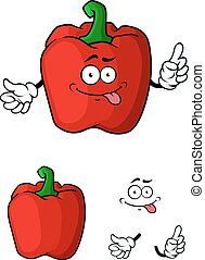 Red bell pepper character