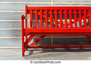 Red Bench