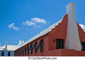 Red Bermuda building