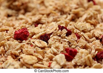 red berries muesli