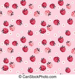 red berry on pale rosy background seamless pattern. vector ...