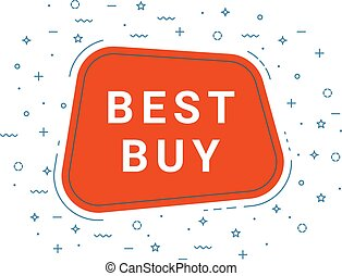 Red Best Buy Speech Bubble. Loudspeaker. Illustrations For Promotion Marketing For Prints And Posters, Menu Design, Shop Cards, Cafe, Restaurant Badges, Tags, Packaging etc.