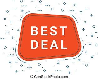 Red Best Deal Speech Bubble. Loudspeaker. Illustrations For Promotion Marketing For Prints And Posters, Menu Design, Shop Cards, Cafe, Restaurant Badges, Tags, Packaging etc.