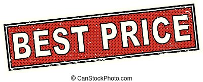 red best price stamp square grunge sign
