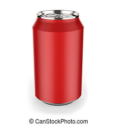 Red beverage can