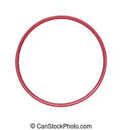 Red bicycle rim