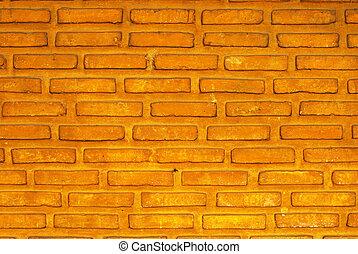red big brick wall