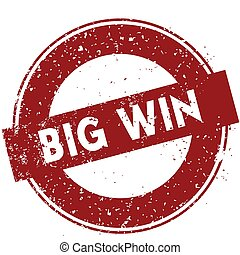 Red BIG WIN rubber stamp illustration on white background