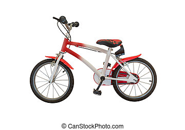 red bike isolated on white background