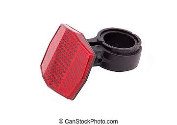 Red bike reflector