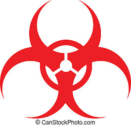 RED biohazard sign, vector