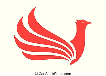 red bird phoenix wings logo
