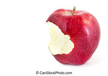 Red bitten apple