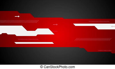 Red black abstract tech minimal motion design