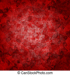Red black abstract triangle background