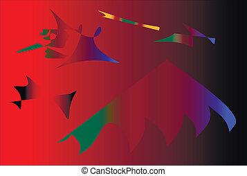 red-black, abstrakt, hintergrund