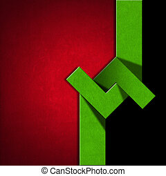 Red, Black and Green Abstract Background