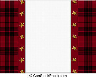 Red, Black and Star Frame for your message or invitation