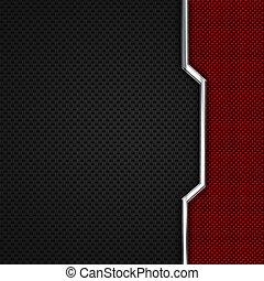 red, black carbon fiber and chromium frame. metal...