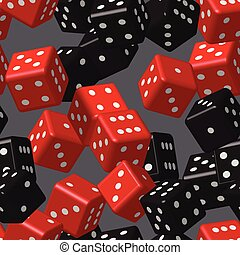 Red Black Dice Seamless Pattern