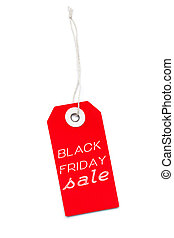 Red Black Friday Sale label tag