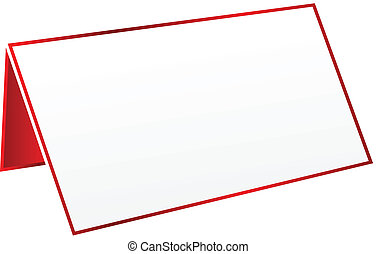 Red Blank Table Tag