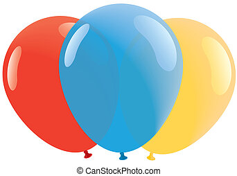 Red, Bllue, Yellow balloons