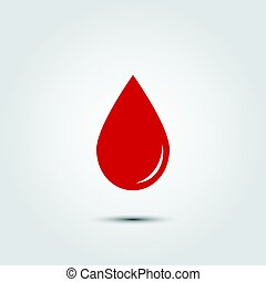 Red blood drop icon.