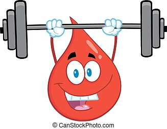 Red Blood Drop Lifting Weights