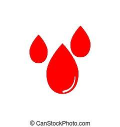 Red blood drop vector graphic design illustration