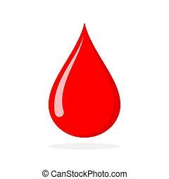 Red blood drop. Vector illustration.