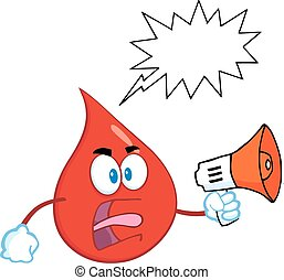 Red Blood Drop With Speech Bubble