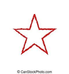 Red blood grunge star. Communism symbol. Authoritarian...