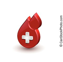 Red blood medical icon