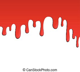 red blood or paint flow