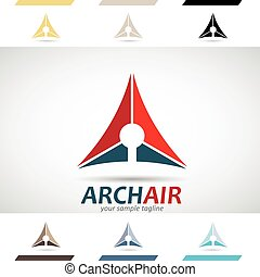 Red, Blue and Brown Logo Shapes and - Design Concept of...