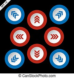 red, blue arrows - eight directions