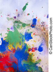 red, blue, green and yellow colors on paper