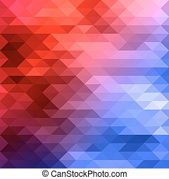 red blue mosaic background