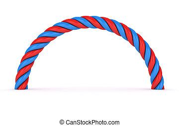 Red-blue spiral