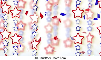 red blue stars and confetti montage