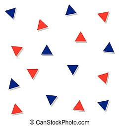 Red Blue Triangle Abstract White Background