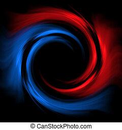 red-blue, vortex